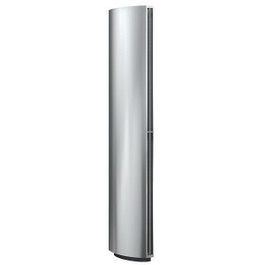 Rideau d'air vertical électrique ou eau chaude conditionnement d'air, limite d'échanges thermique, ventilation, chauffage d'air, rafraîchissement d'air portes tournantes