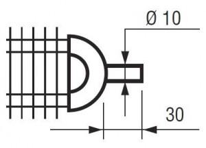 Guide d'extrémité pour résistance à ailettes