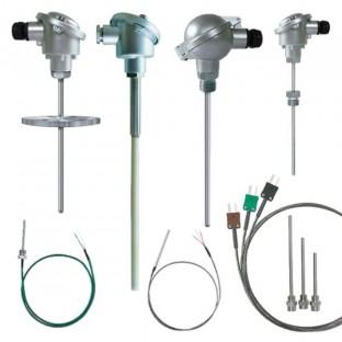 Sondes de température PT100 PT1000 Thermocouple filaire à tête ou plongeur, sondes d'hygrométrie, de pression, câbles de compensation, convertisseurs de signaux