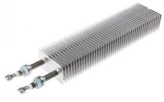 Résistance à ailettes électrique pour chauffage d'air ou de gaz