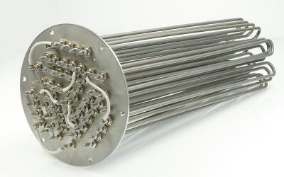Thermoplongeur sur bride résistance électrique industrielle chauffage de liquides ATEX