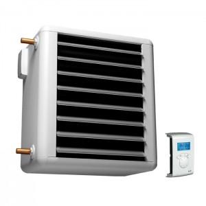 Aérotherme mural à eau chaude chauffage d'air et de gaz ventilation séchage industriel et tertiaire - EICSO Distribution