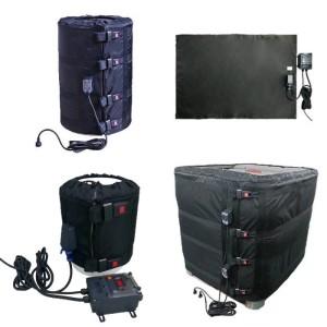 Bâches chauffantes, chauffe-fûts, ceintures chauffantes standard ou sur-mesure pour chauffage de fûts de cuve et autres surfaces. Résistance électrique - EICSO Distribution